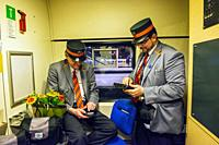 Rotterdam, Netherlands. Last ride of the International Benelux Train between Rotterdam Central Station and Brussels, Belgium on April 8, 2018. This In...