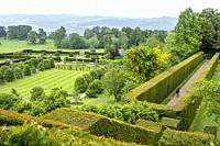 Garden of Powis castle, Wales.