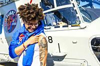 Gilze-Rijen, Netherlands. Artist, Rapper and Celebrity Ronnie Flex is: ´Ambassador for Peace´ during End of World War II celebrations, commemorating t...