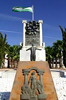 Sevilla (Spain). Monument of the Junta de Andalucía to Blas Infante (Father of the Andalusian Homeland).