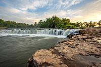 Grand Falls waterfall in Joplin, Missouri.