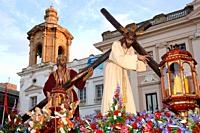 Holy Week. Brotherhood of the Nazareno del Amor. Cadiz. Region of Andalusia. Spain. Europe.