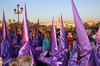 Holy Week. Brotherhood of La O (Nazarenes). Seville. Region of Andalusia. Spain. Europe.