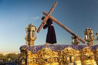 Holy Week. Brotherhood of La O (Jesus Nazareno carrying the cross). Seville. Region of Andalusia. Spain. Europe.