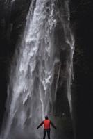 Seljalandsfoss waterfall in South Region of Iceland.