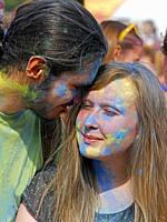 Color festival, Krakow, Poland.