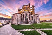 Church of Santa Maria de la Asuncion in Castro Urdiales seaport in Cantabria region of Spain.