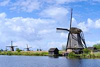 The world heritage windmills of Kinderdijk.