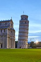 The Duomo and the leaning tower of Pisa, Italy.