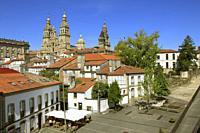 Spain, Galicia, Santiago de Compostela, skyline, Cathedral;.