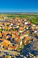 Town View from Cave Traditional Wineries, San Esteban de Gormaz, Soria, Castilla y León, Spain, Europe.