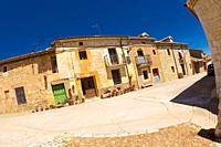 Street Scene, Tipycal Architecture, Maderuelo Medieval Monumental Village, Maderuelo, Segovia, Castilla y León, Spain, Europe.