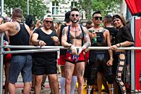 Vienna, Austria, Europe - Gay participants at the Euro Pride Parade along Ringstrasse in central Vienna.