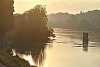 the Loire River at Amboise, Touraine, department of Indre-et-Loire, Centre-Val de Loire region, France, Europe.