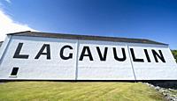 View of Lagavulin Distillery on island of Islay in Inner Hebrides of Scotland, UK.