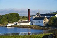 View of Lagavulin Distillery on island of Islay in Inner Hebrides of Scotland, UK.