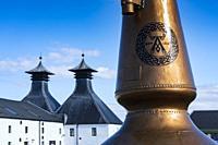 View of Ardbeg Distillery on island of Islay in Inner Hebrides of Scotland, UK.