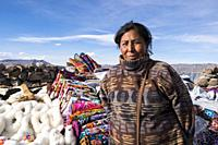 Peru, Lagunillas, portrait.