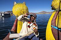 Peru, Titicaca lake, Uros islands.