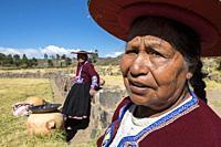 Peru, Raqchi, portrait.