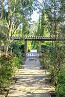 France, Var, Rayol Canadel sur Mer, the Domaine du Rayol, Mediterranean garden, property of the Conservatoire du littoral, pergola in the Australian g...
