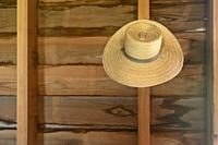 Thibodaux, Louisiana - A hat on the wall in the kitchen of the E. D. White Historic Site.