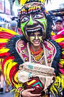 Participant in the Dinagyang Festival in Iloilo Philippines.