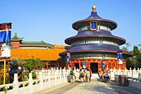 China Pavilion at Epcot, Disney World, Orlando, Florida, USA.
