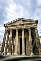 Temple of Augustus and Livia, an original Roman temple, Vienne, France.