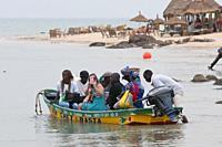 Tourism in Somonoe Lagoon Reserve Senegal