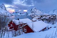 Reine, Moskenesoya, Lofoten, Norland, Norway, Europe.