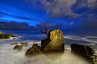 'Peine del Viento' sculpture by Eduardo Chillida, San Sebastian, Donostia, Guipuzcoa, Basque Country, Spain.
