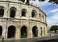 Nimes Arena, NImes, Gard Department, Occitanie, France.