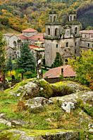 View Monastery of Oseira and surroundings, Orense, Spain.