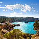 Ibiza Cala Xarraca in Sant Joan of Balearic Islands.