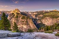 Half Dome at Golden Hour Yosemite National Park USA World Location.
