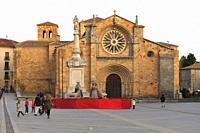 Nativity scene in Santa Teresa de Jesús square of Ávila, Spain.
