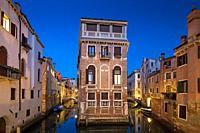 Venice at dusk. Veneto, Italy, Europe.