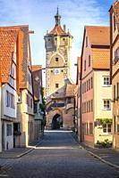 Rothenburg ob der Tauber, Bayern, Germany.