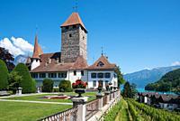 Spiez Castle, Spiez, Bernese Oberland, Switzerland, Europe.