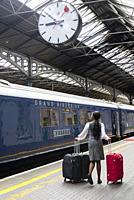 belmond grand hibernian train stopped at the station. Ireland - Jul 20, 2019.