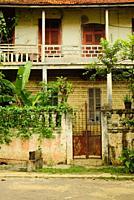 The buildings in the sleepy city of São Tomé.