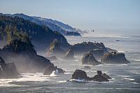 Sea stacks on the southern Oregon coast.