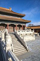 Hall of Imperial Supremacy in the Forbidden City. Beijing, People's Republic of China.