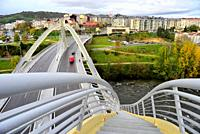 Milennium bridge over Miño river, Orense, Spain.