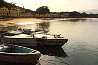 The seafront avenue that runs along the city of São tomé, viewing the Ana Chaves Bay.