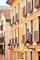 Girl in a balcony. Real Sitio de San Ildefonso, Segovia.