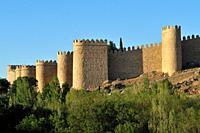 The Walls of Ã. vila, Spain.