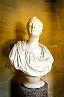 Bust of Robert Burns, the Scottish poet, in the Burns monument museum, Alloway, Ayr, Ayrshire, Scotland, U.