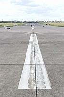 Runway, Tempelhof Airport with airplane, Berlin, Germany.